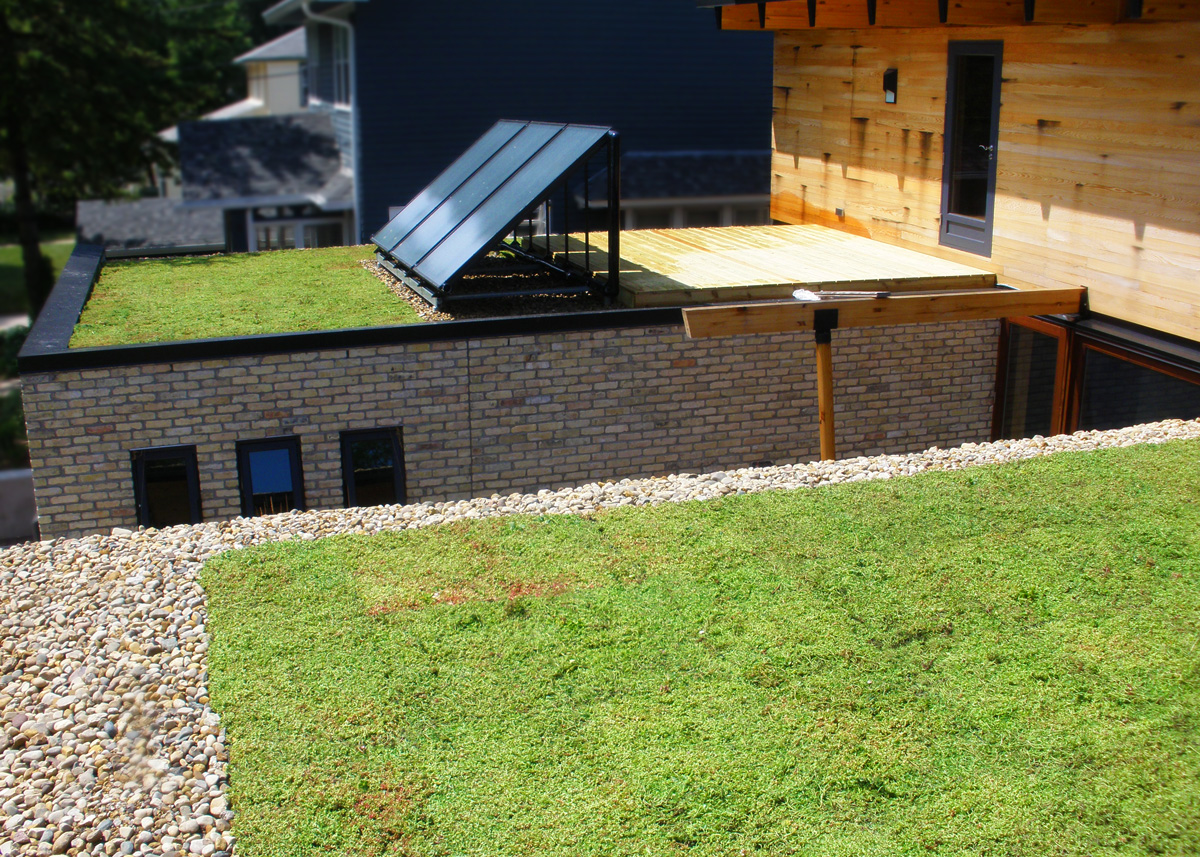 Green Roof Home Milwaukee Vegetal I D Usa